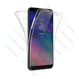 Silicone Case 360 Degree Samsung Galaxy A6 (2018) A600 Double Sided clear