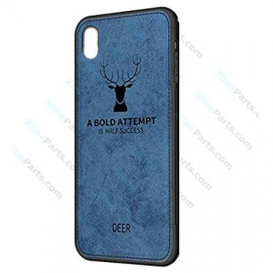 Silicone Case Deer Apple iPhone XR blue