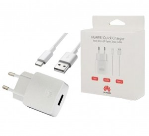 Travel Charger Huawei AP32 Type C Cable 2 Pin white (Original)