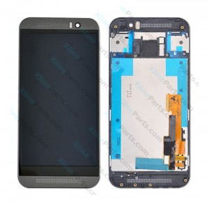 LCD with Touch and Frame HTC One M9 gray
