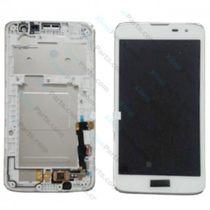 LCD with Touch and Frame LG K7 (2016) X210 white OCG