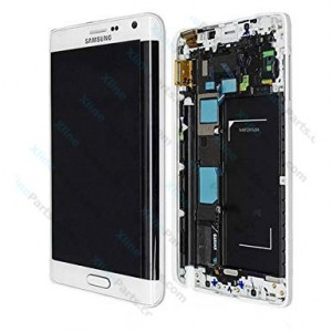 LCD with Touch and Frame Samsung Galaxy Note Edge N915 white OCG