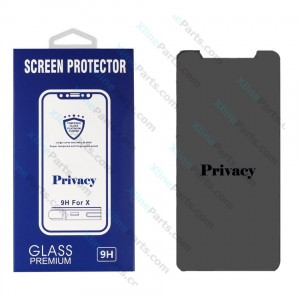 Tempered Glass Screen Protector Privacy Apple iPhone 6 Plus/7 Plus/8 Plus black