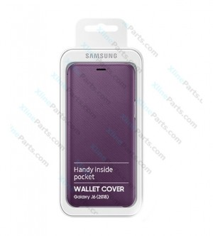 Flip Wallet Case Samsung Galaxy J6 J600 (2018) purple (Original)