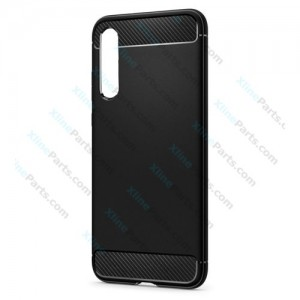 Silicone Case Carbon Huawei P20 Pro black