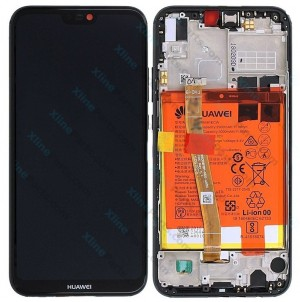 LCD with Touch and Frame Complete Huawei P20 Lite with Internal Battery black (Original)