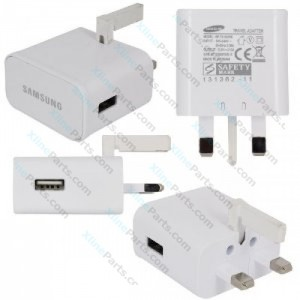 Travel Charger Samsung USB UK Wall Mains Fast white