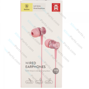 Phone Headset Baseus Lark Series EL-01 3.5mm Jack pink (Original)