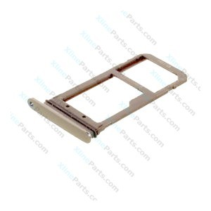 SIM Holder Micro SD Card Holder Samsung Galaxy S7 G930 gold