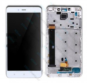 LCD with Touch and Frame Xiaomi Redmi Note 4 MTK Helio X20 white OCG*