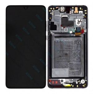 LCD with Touch and Frame Complete Huawei Mate 20 with Internal Battery black (Original)