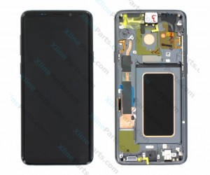 LCD with Touch and Frame Samsung Galaxy S9 Plus G965 gray (Original)