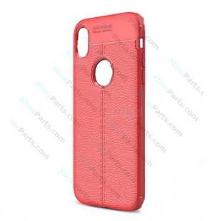 Silicone Case Auto Focus Apple iPhone XR red OEM