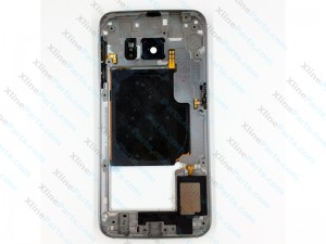 Back Battery and Middle Cover Samsung Galaxy S6 Edge G925 white