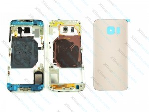 Back Battery and Middle Cover Samsung Galaxy S6 G920 gold