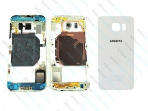 Back Battery and Middle Cover Samsung Galaxy S6 G920 white