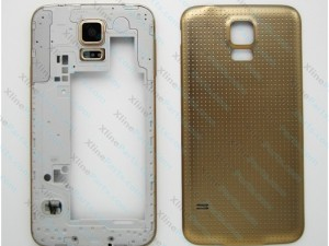 Back Battery and Middle Cover Samsung Galaxy S5 G900 Gold