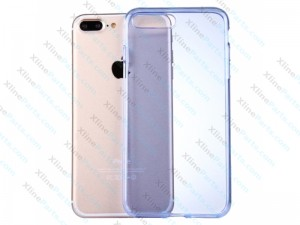 Silicone Case iPhone 7 Plus/8 Plus Semitransparent blue