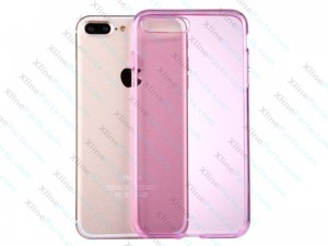 Silicone Case iPhone 7 Plus/8 Plus Semitransparent pink