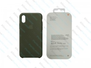 Back Case Apple iPhone X/XS Hard Case dark olive