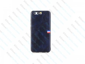 Back Case Leather Huawei P10 Plus blue