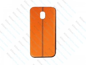 Back Case Leather Samsung Galaxy J3 (2017) J330 orange