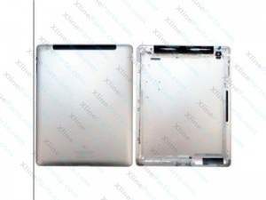 Back Battery Cover Apple iPad 2 Version 3G silver