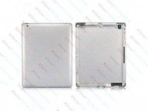 Back Battery Cover Apple iPad 3 Wifi silver
