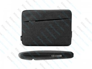 "Bag Fabric Soft Potable Package with Below Mackbook Pro 13.3"" black"