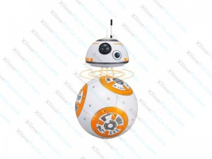 Ball Robot with Remote Control with LED Music & 360 Degree Rolling Ball orange