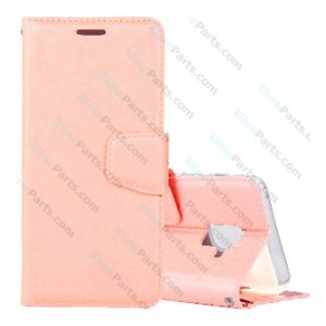 Flip Case Silk Leather Samsung Galaxy A6 (2018) A600F rose gold