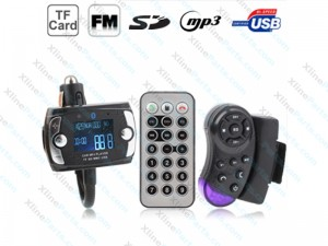 Car Bluetooth Handfree MP3 Player & FM Transmitter with Steering Wheel Remote
