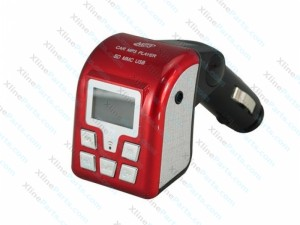 Car MP3 Player with FM Modulator red