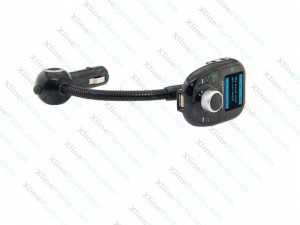 Car MP3 Player with FM Transmitter Flexible Arm 8 in 1 black