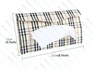 Car Sun Visor Hanger Tissue Box Paper Napkin Bag with Napskins