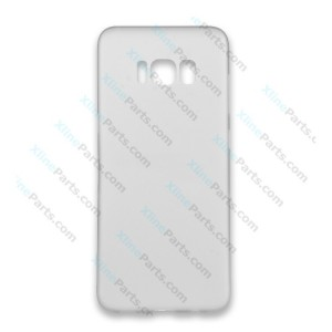 Silicone Case 360 Degree Samsung Galaxy S8 Plus G955 Double Sided clear grey