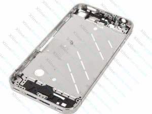 Cover Middle Apple iPhone 4G silver