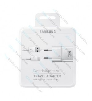 Travel Charger Samsung EP-TA20E Type-C 2 Pin Adapter white (Original)