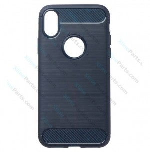 Silicone Case Carbon Apple iPhone X/XS dark blue
