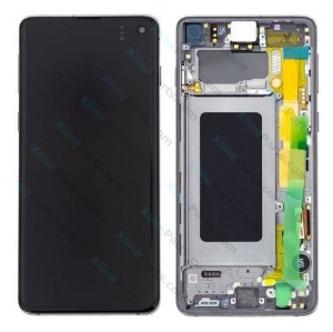 LCD with Touch and Frame Samsung Galaxy S10 G973 black (Original)