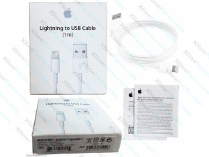 Data Cable USB Apple iPhone 1M white