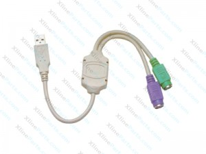 Data Cable USB to PS/2 Convertor