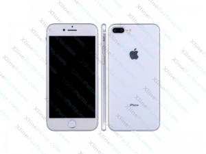Dummy Mobile Phone Apple iPhone 8 Plus silver white