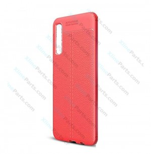 Silicone Case Auto Focus Samsung Galaxy A7 (2018) A750 red OEM