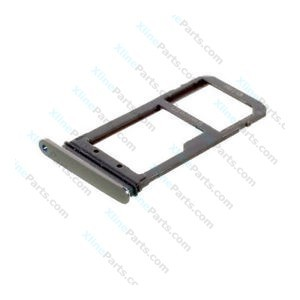 SIM Holder Micro SD Card Holder Samsung Galaxy S7 G930 dark grey