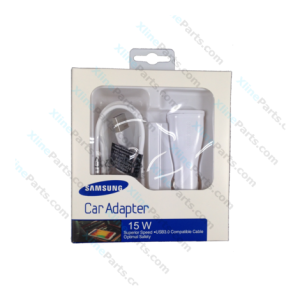 Samsung USB Adapter Fast Car Charger with Micro USB Cable white (Original)