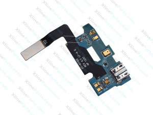Flex Connector Charging Port with Microphone Samsung Galaxy N7100