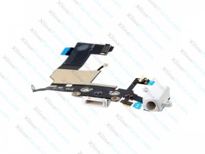 Flex Connector Charging Port and Headphone Jack / Mic Apple iPhone 5S  white