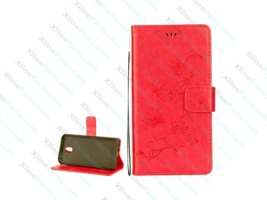Flip Butterfly Case with Holder Samsung Galaxy J5 (2017) red