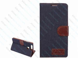 Flip Case Huawei P9 Jeans Leather with Holder black
